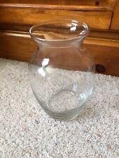 "Beautiful Pressed Glass Bud Vase Clear 6"" Tall 3"" Diameter Top 3"" Bottom"