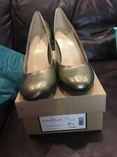 New COLE HAAN D38860 Air Laney High Heels Pumps Pewter Patent Leather 8.5 B