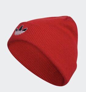 New Adidas Unisex Originals Grove Beanie Hat Bright Red One Size EW2715