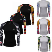 Girls Athletic Compression Shirt Running Gym Base Layer Dri fit Long Sleeve Top