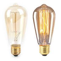 1PC retro lamp st64 vintage edison bulb e27 incandescent bulb 220v 40w light  OZ