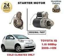 FOR TOYOTA IQ 1.0 2009-->ON NEW STARTER MOTOR - COLD CLIMATE STARTER MOTOR