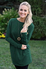 Womens Autumn Knitted Sweater Jumper Dress Ladies Loose Long Pullover Tops 8-20