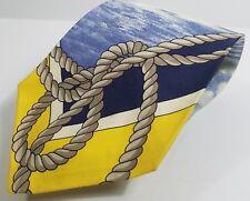 RARE Ralph Lauren Polo NECKTIE-- Nautical Theme -Sailboat on Sea and rope ******