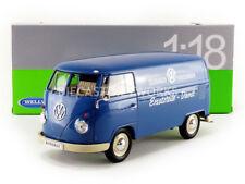 WELLY - 1/18 - VOLKSWAGEN COMBI T1 BUS PANEL VAN - 1963 - VW PORSCHEWAGEN - 1805