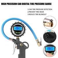 Professional Digital Tyre Inflator+Gauge Air Line Tyre Pump Pressure Tester Cars