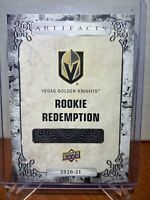 2020-21 UD Artifacts Vegas Golden Knights Rookie Redemption Unscratched #209
