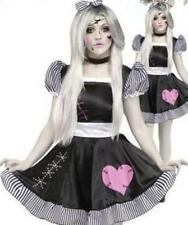 Halloween Broken Rag Doll Fancy Dress Costume Zombie Ghost Womens Outfit