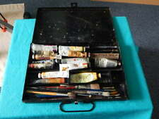 Vintage Artists Oil Paint Travel Set In Metal Case ~ Rowney / Winsor & Newton