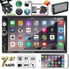 7inch  2DIN HD MP5 Player Bluetooth Car Stereo Radio Touch Screen + Rear Camera