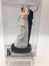 NEW Studio His & Hers Wedding Cake Topper black/white