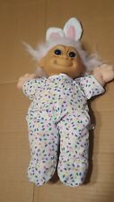 Russ Troll Doll Plush Rabbit Bunny Ears and Outfit Vintage 15 inches tall
