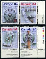 Canada 1987 Mi. 999-1002 Neuf ** 100% technologie Sciences
