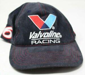 Mark Martin #6 Valvoline Racing Adjustable Hat Cap NASCAR Checkered Flag  #D-9