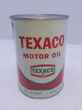 Vintage metal Texaco motor oil can SAE 10W full 1 Quart