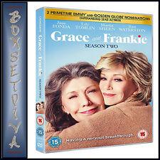 GRACE AND FRANKIE - COMPLETE SEASON 2 - SECOND SEASON *** BRAND NEW DVD ***
