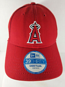 Anaheim Angels Logo 39/Thirty Hat Red Size Medium/Large Youth NWT