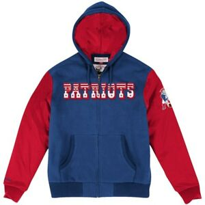 NEW ENGLAND PATRIOTS NFL MITCHELL N NESS SKILL POSITION BLUE / RED JACKET $150