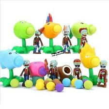 PLANTS vs. ZOMBIES - SET 14 FIGURAS / 14 FIGURES SET - PEASHOOTER & MORE