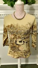 Take Two Clothing Co. cotton embellished Small knit top Expresso Cafe