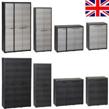Lockable Garden Storage Tool Cabinet with Shelves Outdoor Garage Shed Shelves