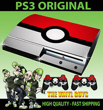 PLAYSTATION PS3 old forme pokeball pokemon autocollant peau & 2 controller pad skins