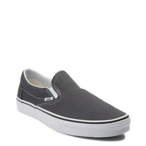 Vans Classic Slip on Charcoal Fashion Sneakers Canvas Shoes VN000EYECHR