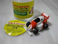 1993 mclaren mp48 ford 8 ayrton senna formula 1 pull back race car f1 dydo