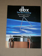 DBX vintage catalog (color pdf): 224X, 4BX, 3BX III, 1BX III, 120X, 10/20, more.