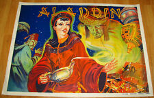 Fine Art Deco 1930s Aladdin Pin-Up Orientalist Theater Poster Stone Lithography
