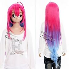 W-360 a dark rabbit has seven Lives saitohimea pink 100cm cosplay perruque wig