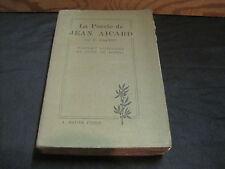 J.CALVET: la poésie de Jean Aicard