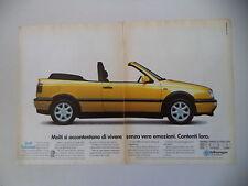 advertising Pubblicità 1994 VOLKSWAGEN GOLF CABRIOLET