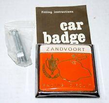 VINTAGE RENAMEL CAR BADGE ZANDVOORT RACE CIRCUIT NEW MIB WITH HARDWARE