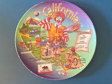 "RARE McDonald's Ronald McDonald California Collector Plate 2003 9.5"""