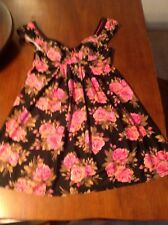 6c73a03f8fd87 Betsey Johnson Sz Small Sexy Black Pink Floral CHEZ ROSE Swim Dress Cover Up