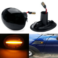 Smoke Side Markers Turn Signal Light LED For 07-13 Mini Cooper R55 R56   boom!