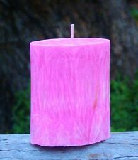 90hr PINK GRAPEFRUIT & YLANG YLANG Triple Scented OVAL PILLAR CANDLE Free Post