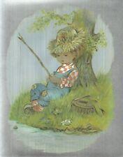 "Dufex Foil Picture Print - Boy Fishing - 8"" x 10"" size picture"