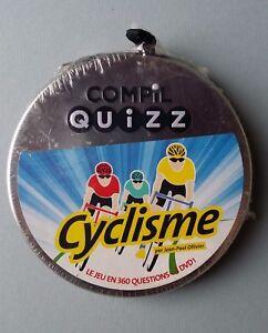 COMPIL QUIZZ - LE CYCLISME - LE JEU EN 360 QUESTIONS + 1 DVD !  - NEUF NEW NEU