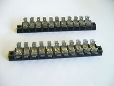 "11 Position Terminal Block Strip, 3/8"" spac. 3/16""  Multi Tab Connections 2 pcs"