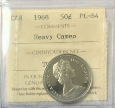 1968 Canada 50 Cents - Heavy Cameo -  ICCS Certified PL- 64 #35156
