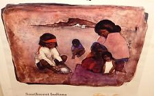 "DIETRICH GRUNEWALD ""SOUTHWEST INDIANS"" LIMITED EDITION HAND SIGNED LITHOGRAPH"