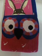 Joules baby girls Owl character bamboo socks (13-3) fits 2-3 years old