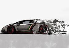 Lamborghini Car Photo Poster Print ONLY Wall Art A4