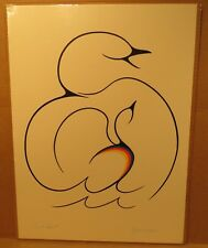Bird Spirit Original 1991 Acrylic Painting by Clemence Wescoupe