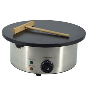 """3KW Commercial Electric Crepe Maker 16"""" NON STICK Pancake Bake Machine 400mm UK"""
