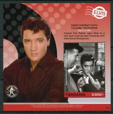 Tanzania 2017 MNH Elvis Presley His Life in Stamps 1v S/S I Celebrities Music