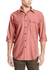 PENDLETON Red Pure Wool 'BLAINE' Patch Pocket Sleeve Keeper Shirt Size M $139