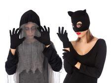 GANTS courts Noir Accessoire Déguisement Femme Costume Halloween Catwoman